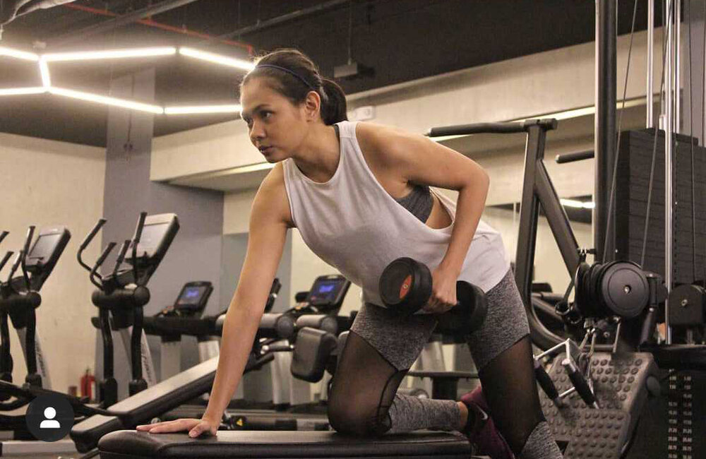 Before the pandemic, Tin lets off steam by going to the gym and working out.