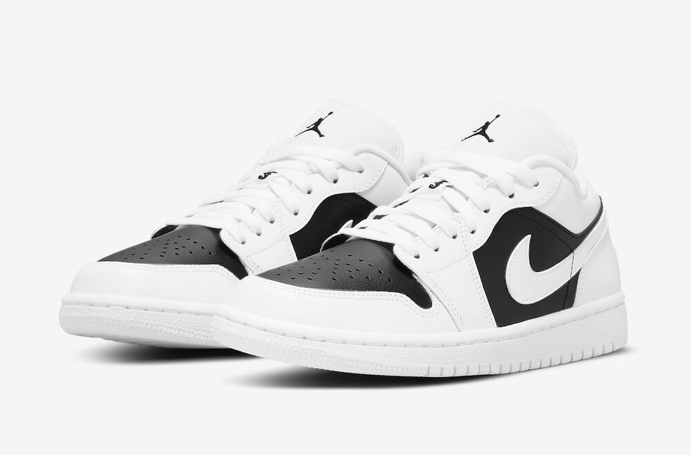 Air Jordan 1 Low will be released in white and black color scheme. (Photo courtesy of Sneaker Bar Detroit)