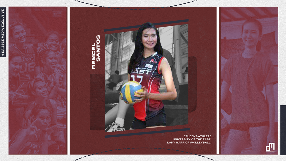 Remcel Santos plays volleyball for the University of the East Lady Red Warriors.