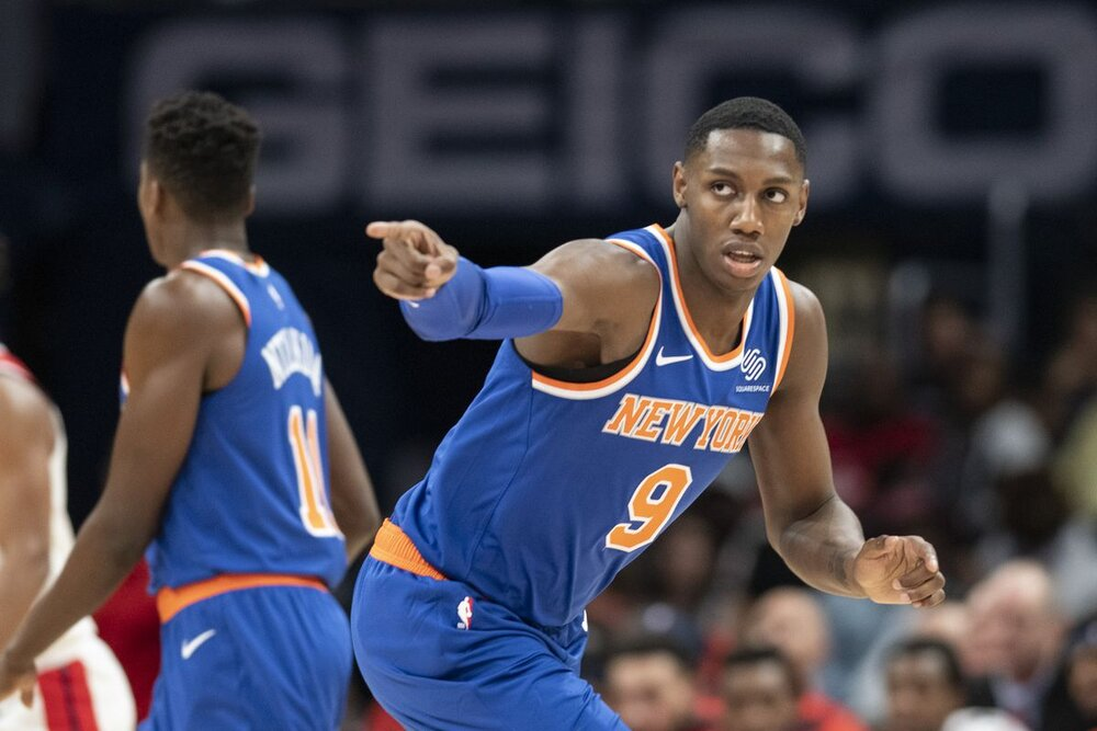 RJ Barrett scored 25 points in the Knicks' win over the Pacers. (Photo by Tommy Gilligan/USA TODAY Sports)
