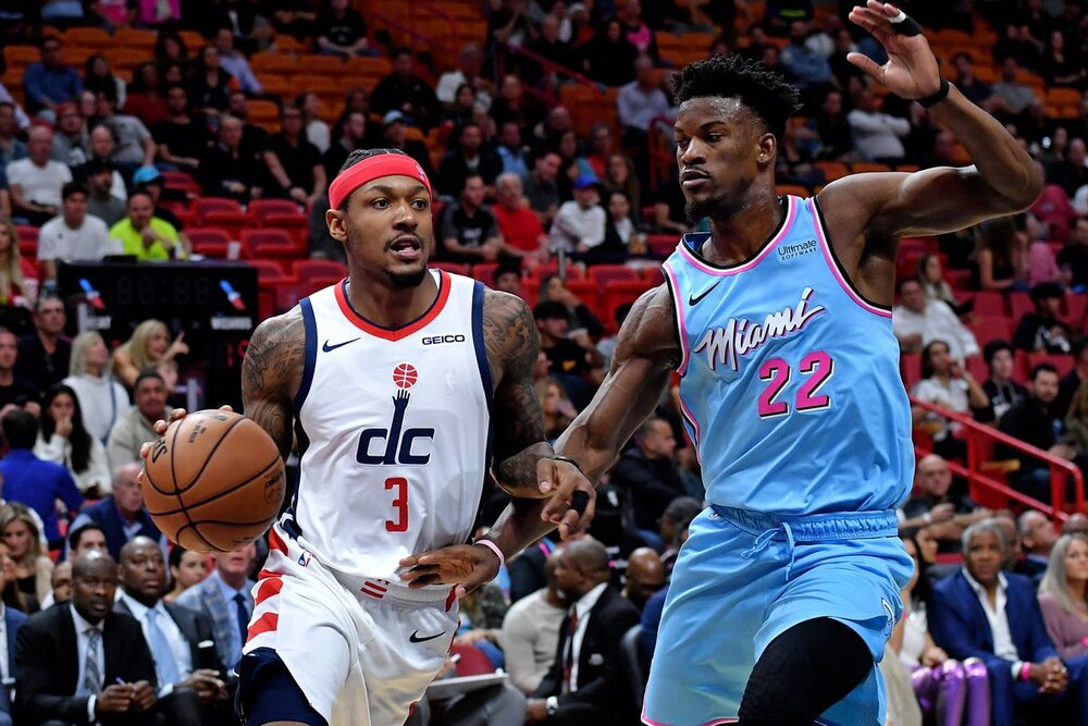 Bradley Beal could team up with Jimmy Butler in Miami. (Photo by Steve Mitchell/USA TODAY Sports)