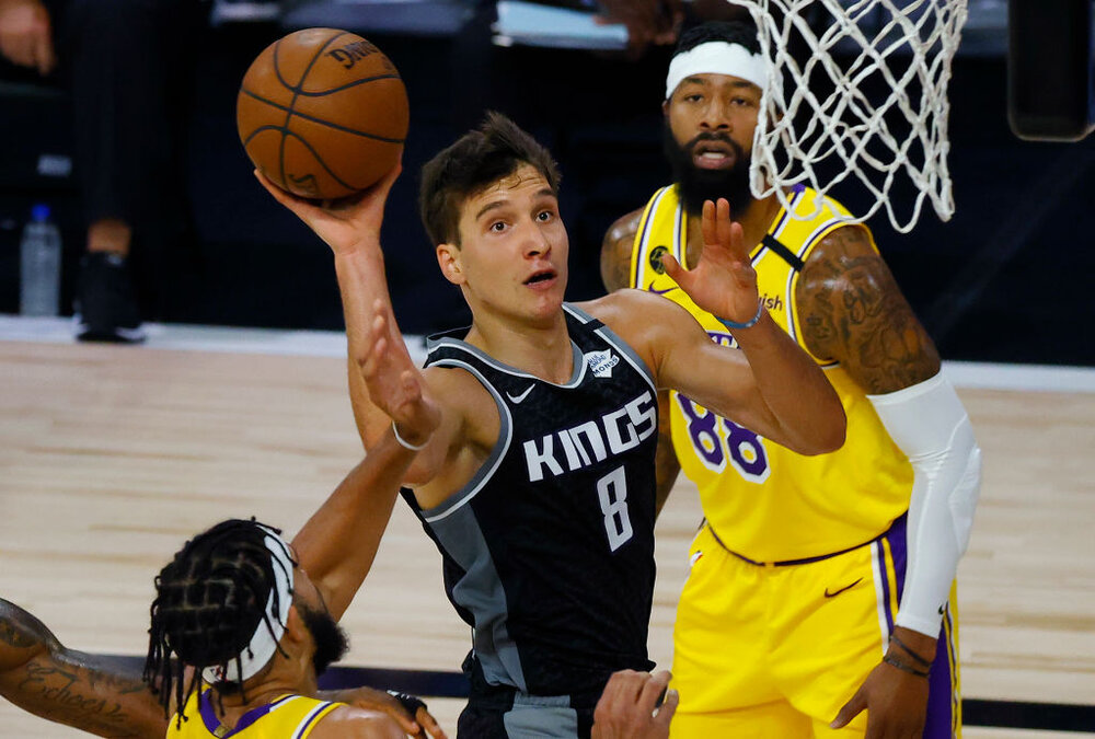 Bogdan Bogdanovic is joining the Atlanta Hawks. (Photo by Kevin C. Cox/Getty Images)