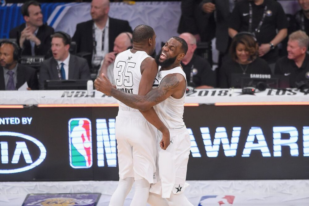 LeBron and KD will lead the 2021 All-Star teams. (Photo by Jayne Kamin-Oncea/Getty Images)