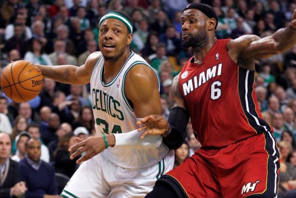 Paul Pierce had heaps of praises for four-time MVP LeBron James. (Photo by Jim Rogash/Getty Images)