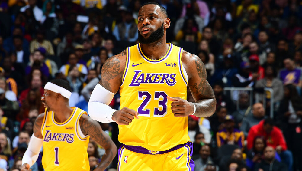 LeBron James' triple-double led the Lakers to a win against the Thunder. (Photo by Scott Cunningham/NBAE/Getty Images)
