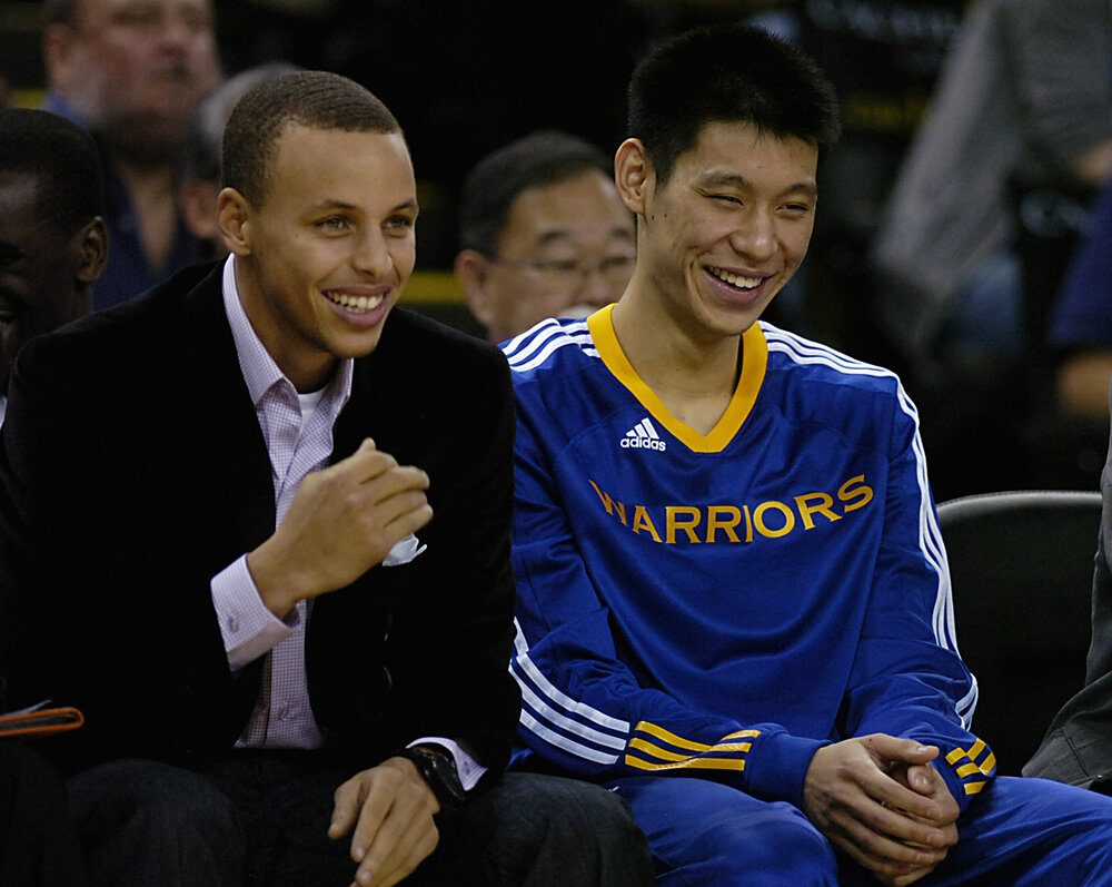 Jeremy Lin could reunite with former teammate Stephen Curry in Golden State. (Photo by Susan Tripp Pollard/Contra Costa Times)