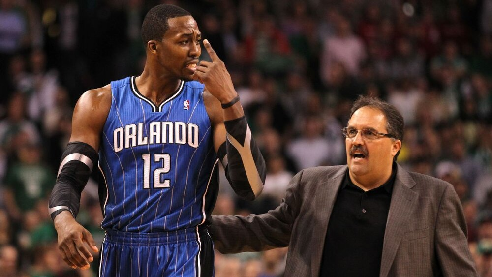 Stan Van Gundy, Howard's former coach, is being interviewed for the Pelicans' head coaching role. (Photo via ESPN)
