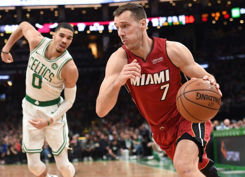 Goran Dragic tallied 25 points in Miami's Game 2 win over Boston. (Photo via USA TODAY Sports)