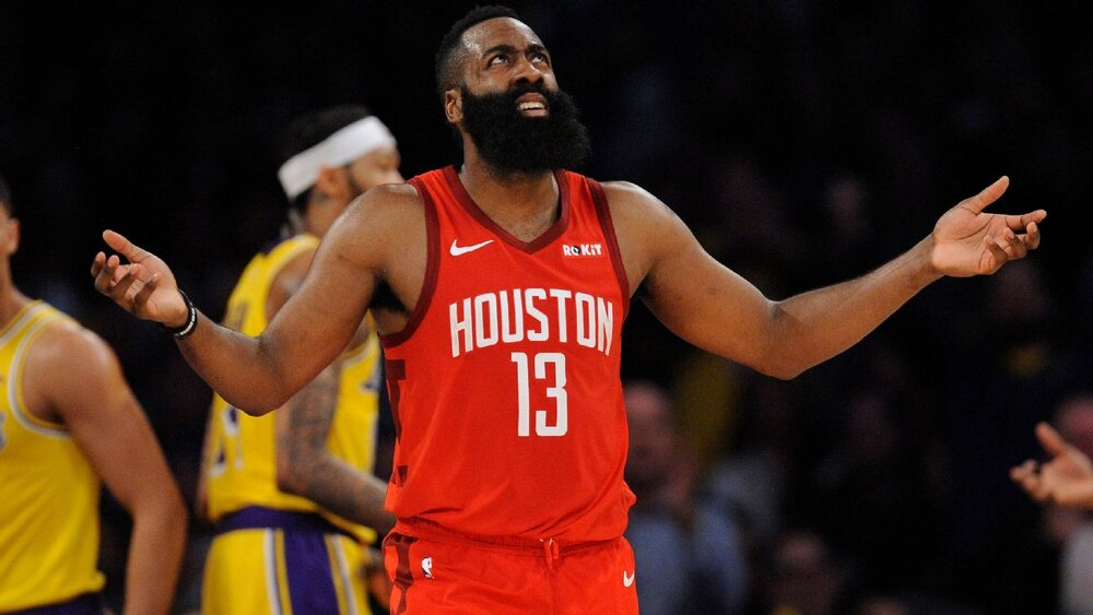 James Harden could be donning new uniforms soon. (Photo via ESPN)