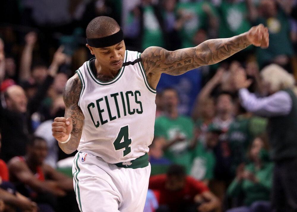 Isaiah Thomas spent three productive years with the Boston Celtics. (Photo by Barry Chin/The Boston Globe)