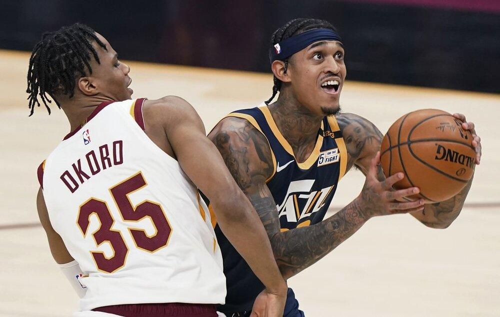 Jordan Clarkson is tallying 17.7 points for the Jazz this season. (Photo by Tony Dejak/AP)