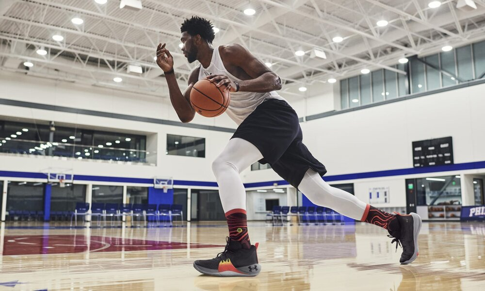 Joel Embiid's first signature shoe with Under Armour will be released later this month. (Photo courtesy of Under Armour)