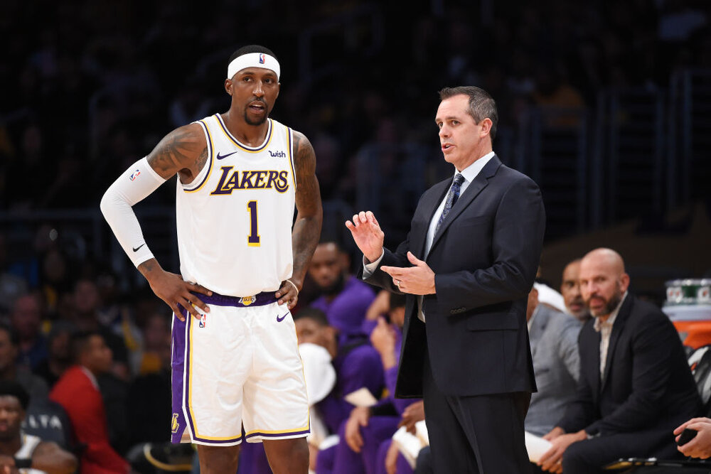Kentavious Caldwell-Pope played a big role during the Lakers' championship run. (Photo by Adam Pantozzi/NBAE/Getty Images)