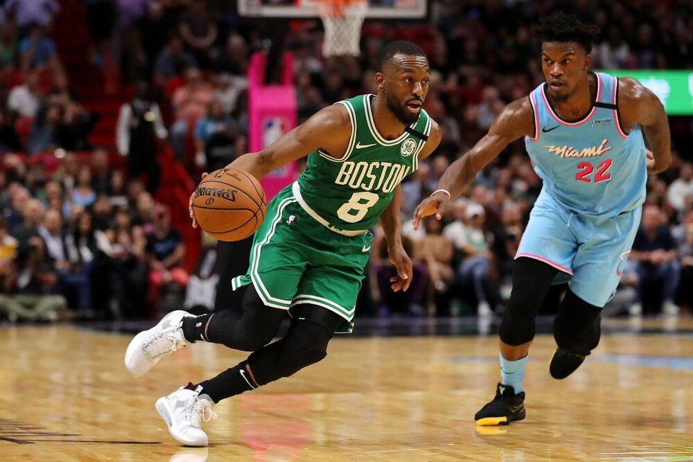 The Celtics will need more from Kemba Walker to escape a gritty Heat squad. (Photo by Michael Reaves/Getty Images)