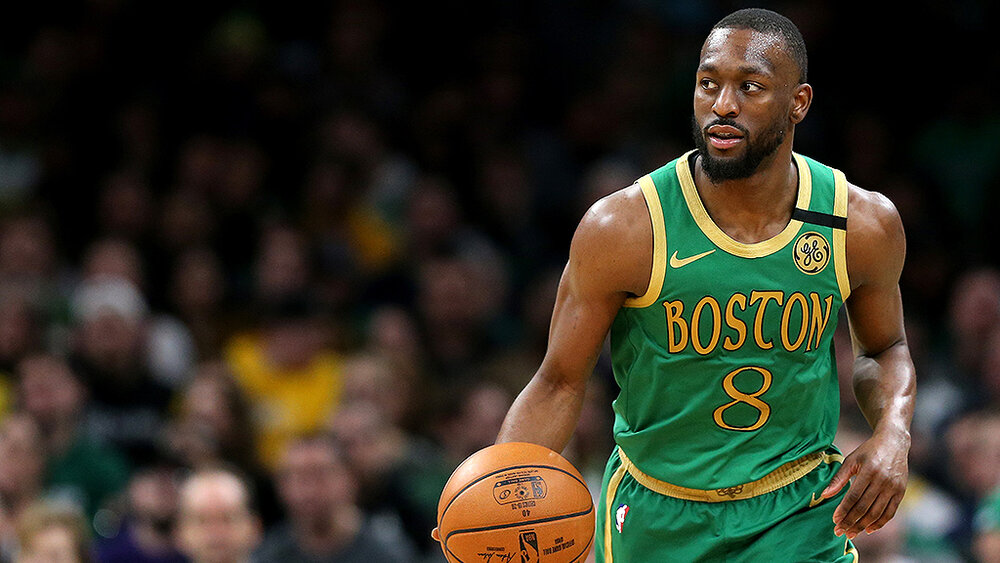 Boston's Kemba Walker put up 11 of his 17 points in the fourth quarter against Toronto. (Photo by Maddie Meyer/Getty Images)