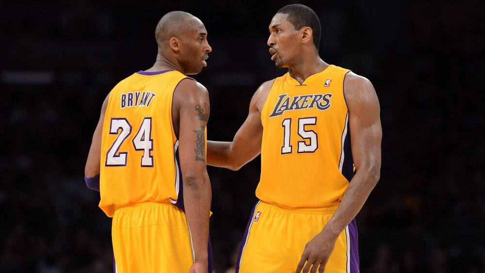 Ron Artest says that he initially did not want to join Kobe Bryant and the Los Angeles Lakers. (Photo via Getty Images)