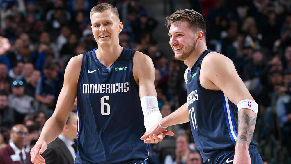 The Mavericks' ability to become an elite contender in the West lies on Luka Doncic and Kristaps Porzingis. (Photo by Glenn James/NBAE)