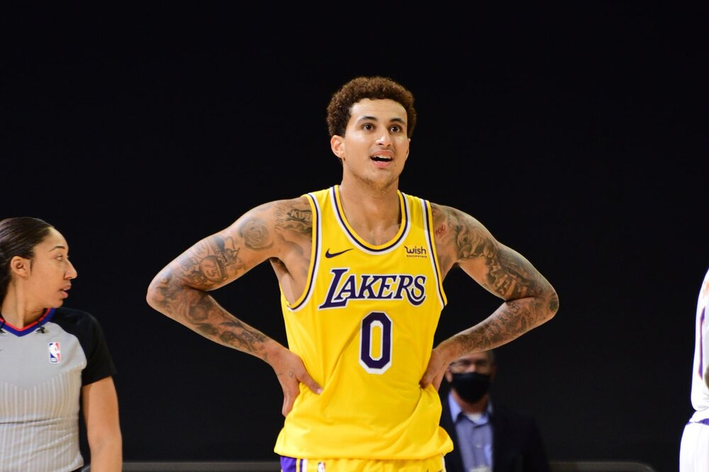 Kuzma averaged 12.8 points for the Lakers last season. (Photo by Michael Gonzales/NBAE/Getty Images)
