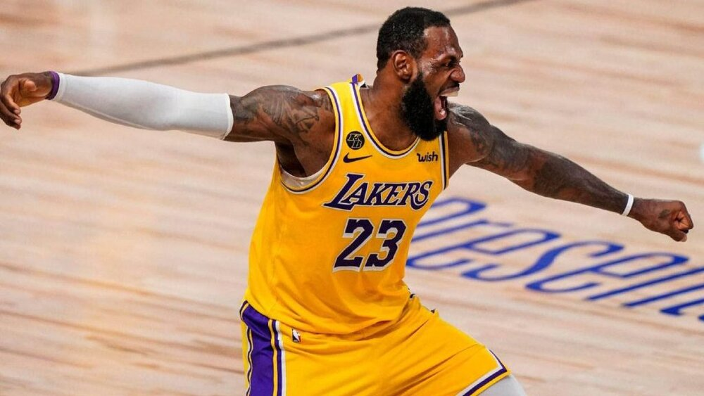 LeBron James is putting up 23.7 points for the Lakers this season. (Photo by Mark J. Terrill/AP)