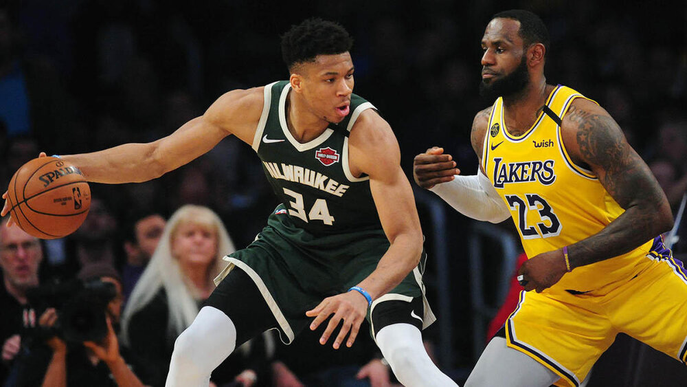 Giannis Antetokounmpo and LeBron James were the two frontrunners for the 2019-20 MVP award. (Photo from CBS Sports)