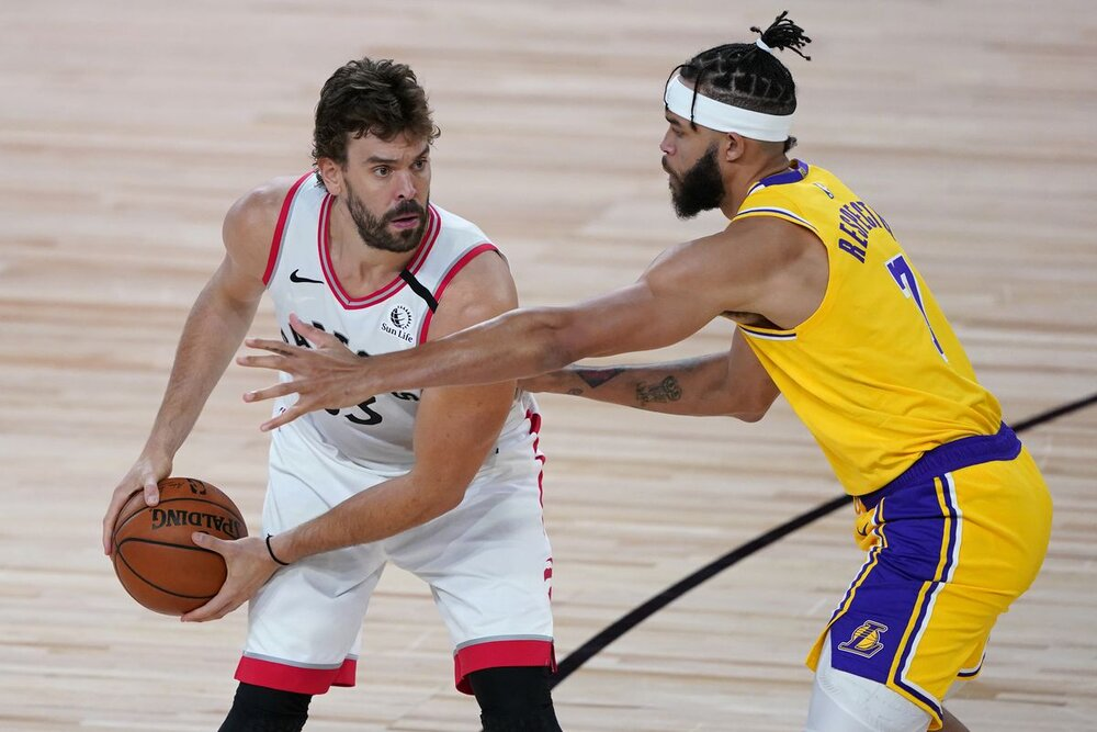 Marc Gasol has signed with the Lakers. (Photo by Ashley Landis/Getty Images)