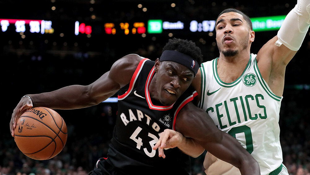 First-time All-Stars Jayson Tatum and Pascal Siakam should be an exciting match-up to watch. (Photo by Barry Chin/The Boston Globe/Getty Images)
