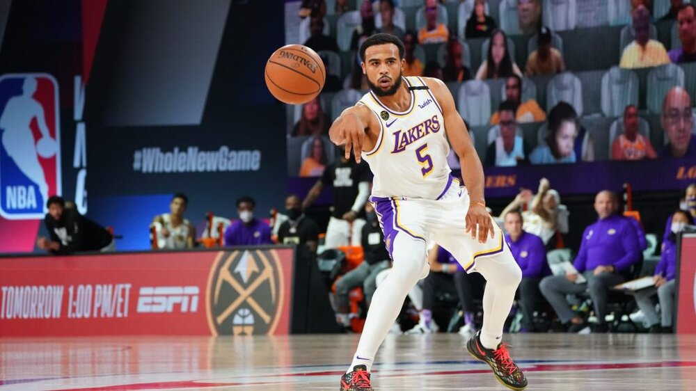 Talen Horton-Tucker tallied 19 points in the Lakers' first preseason game. (Photo by Jesse D. Garrabrant/NBAE/Getty Images)