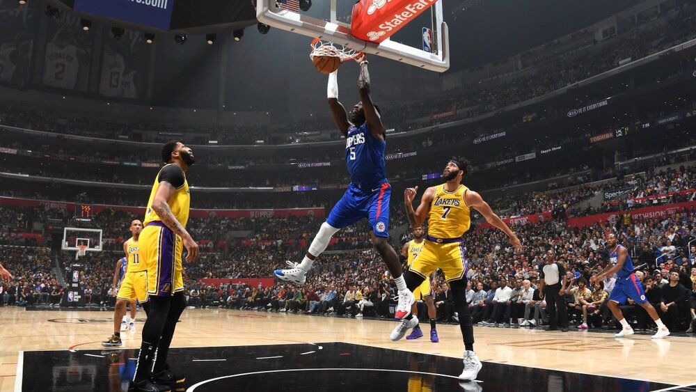 Montrezl Harrell will shore up the Lakers' frontcourt this season. (Photo by Andrew D. Bernstein/NBAE/Getty Images)