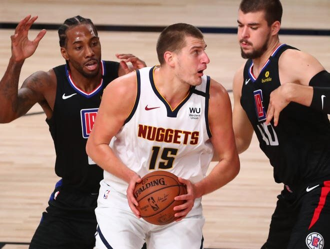 Jokic lifted the Nuggets to tie the series against the Clippers. (Photo courtesy of Kim Klement/USA Today Sports