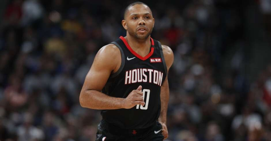 Eric Gordon can fill up Sixers' weakness from the outside. (Photo courtesy of David Zalubowski/Associated Press)