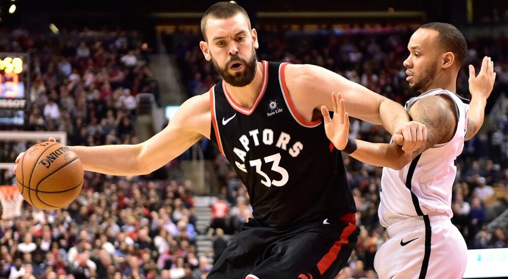 Marc Gasol should be able to assert himself against a smaller Celtics frontcourt. (Photo by Frank Gunn/CP)
