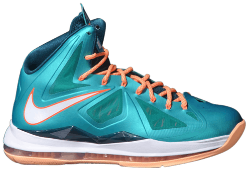 The Nike LeBron 10 was released in 2012. (Photo courtesy of GOAT)
