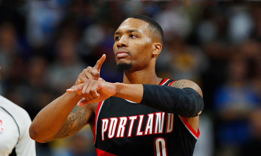 Lillard didn't make it as a starter for the 2021 All-Star game. (Photo via Essentially Sports)