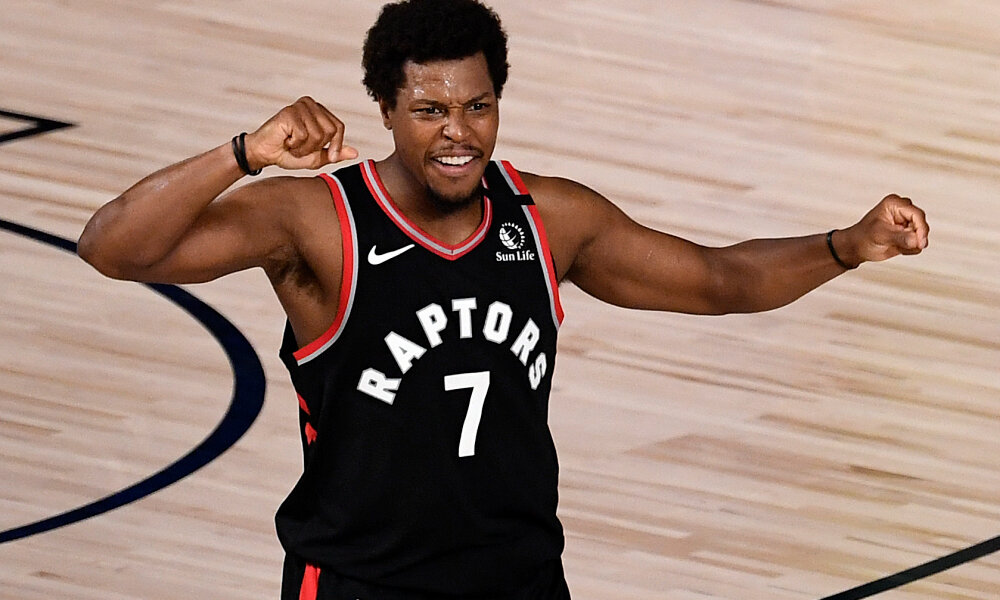 Kyle Lowry and the Raptors notched their first win against the Celtics, 104-103. (Photo courtesy of Andy Nesbitt)