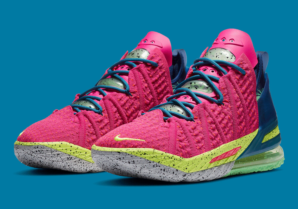 The Nike LeBron 18 is Nike's latest release from the LeBron line. (Photo courtesy of Sneaker News)