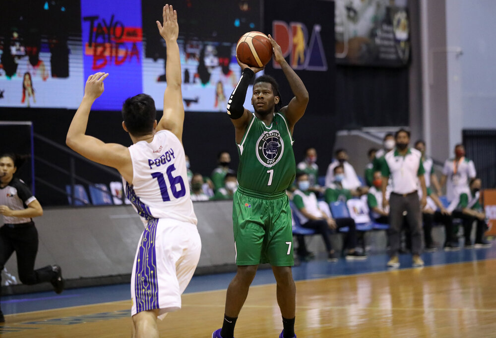 CJ Perez tallied points in TerraFirma's conference opener loss to TNT. (Photo from PBA)