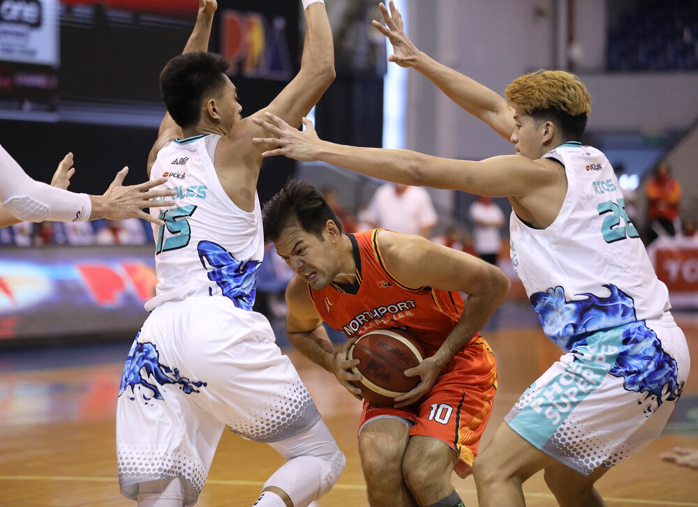NorthPort's all-around forward Sean Anthony had a triple-double in the loss to Phoenix. (Photo from PBA)