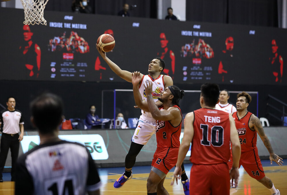 Sidney Onwubere tallied a team-high 16 points for Rain or Shine. (Photo from PBA)