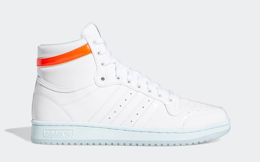 """The Adidas Top Ten High features the """"Ice Trae"""" colorway. (Photo courtesy of Sneaker Bar Detroit)"""