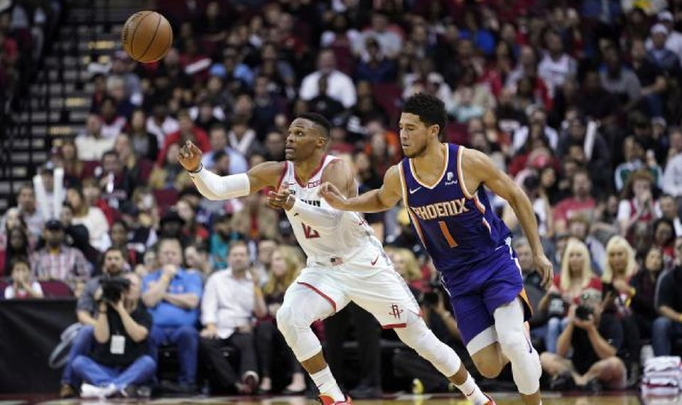 After another tough season for both Westbrook and Booker, the two stars can team up in Phoenix. ( Photo courtesy of David J. Phillip/AP Photo)