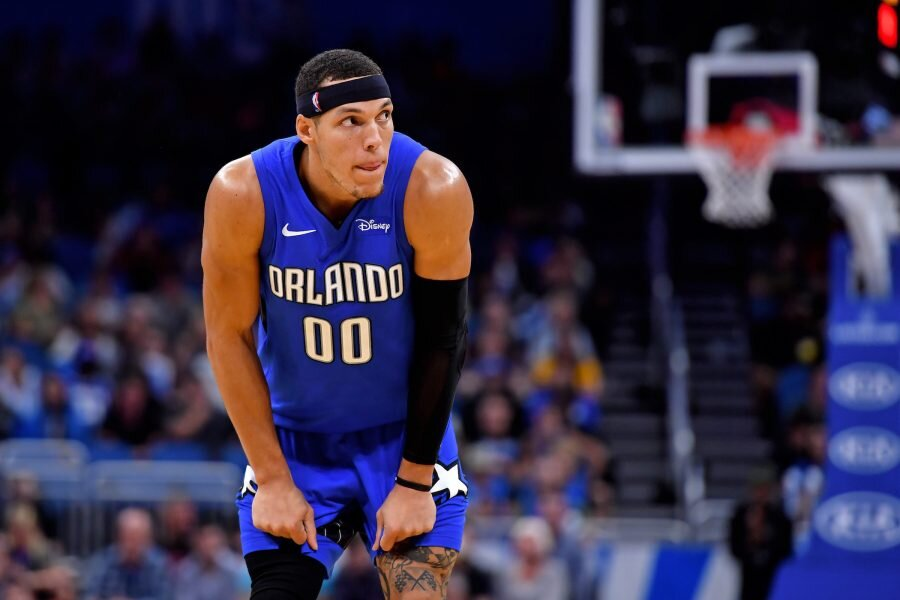 An Aaron Gordon trade was discussed by Orlando and Houston. (Photo via Hoops Rumors)