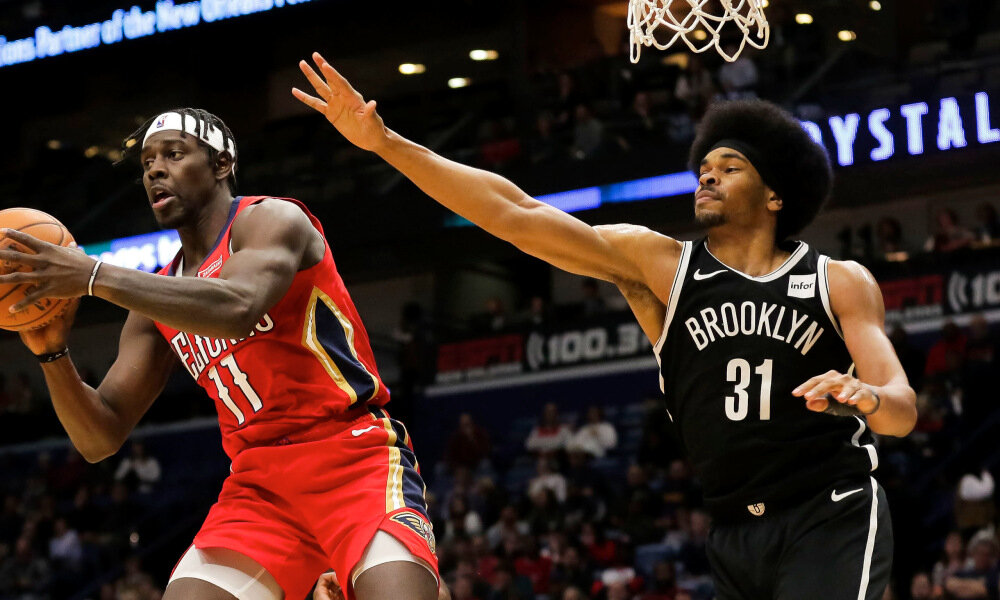 Jrue Holiday is rumoured to be in the Nets' list of trade targets. (Photo by Derick E. Hingle/USA TODAY Sports)