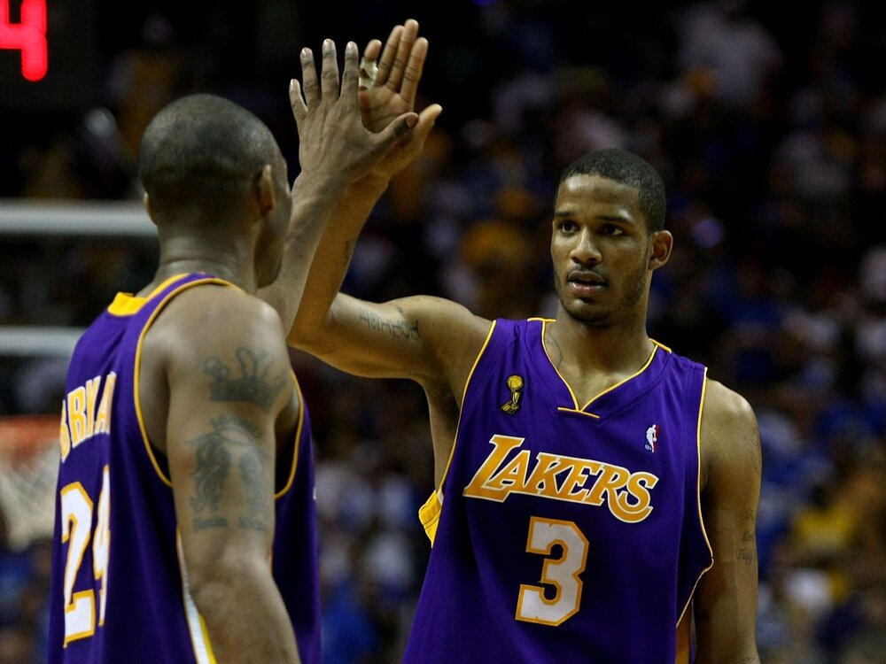 Trevor Ariza won a championship with the Kobe Bryant-led Lakers in 2009. (Photo by Elsa/Getty Images)