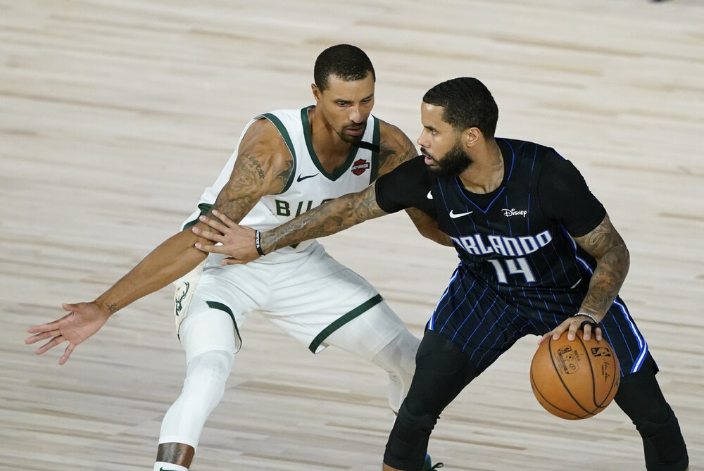 D.J. Augustin could fill in for the departure of George Hill. (Photo by China Daily)