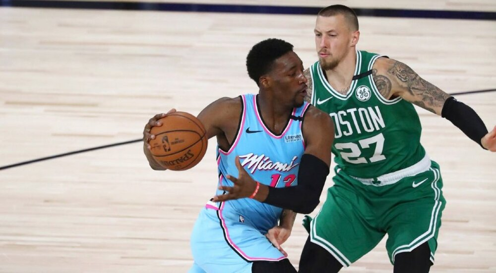 Miami's Bam Adebayo should be more aggressive on offense in this Conference Finals series against Boston. (Photo by Kim Klement/AP)