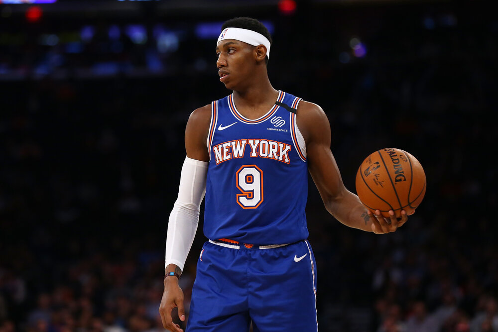 RJ Barrett and the Knicks close out the preseason with a resounding win. (Photo by Mike Stobe/Getty Images)
