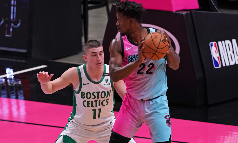 The Celtics won their first game against the Heat this season. (Photo by Jasen Vinlove/USA TODAY Sports)