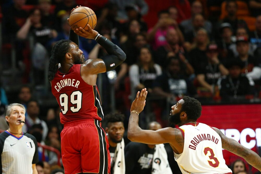 Crowder has been a key cog in the Heat's success in the bubble. (Photo from USA TODAY Sports)