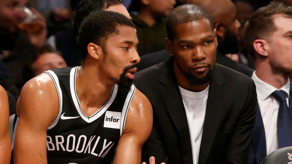 Nets' scoring guard Spencer Dinwiddie didn't get the chance to play with Durant this season. (Photo by Jim McIsaac)