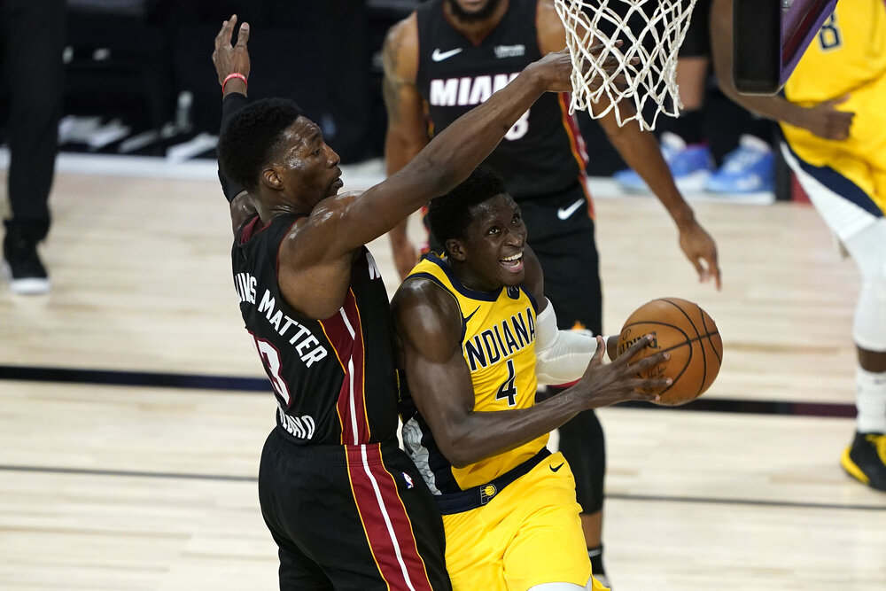 The Heat could snag Victor Oladipo from the Rockets. (Photo by Ashley Landis/USA TODAY Sports)